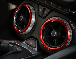 Red/Blue Air-Vent Bezel Rings | 2016-2020 Camaro
