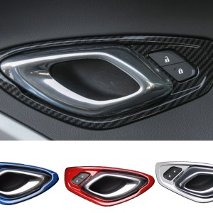 Colored Interior Door Handle Surround Covers | 2016-2021 Chevy Camaro