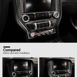 Carbon Fiber Radio Trim Cover   2015-2021 Ford Mustang