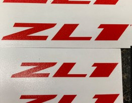 ZL1 Vinyl Decals (HIGH Temp) | 6 Colors