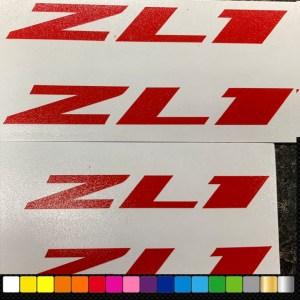 ZL1 Vinyl Decals (HIGH Temp) | 6 Colors