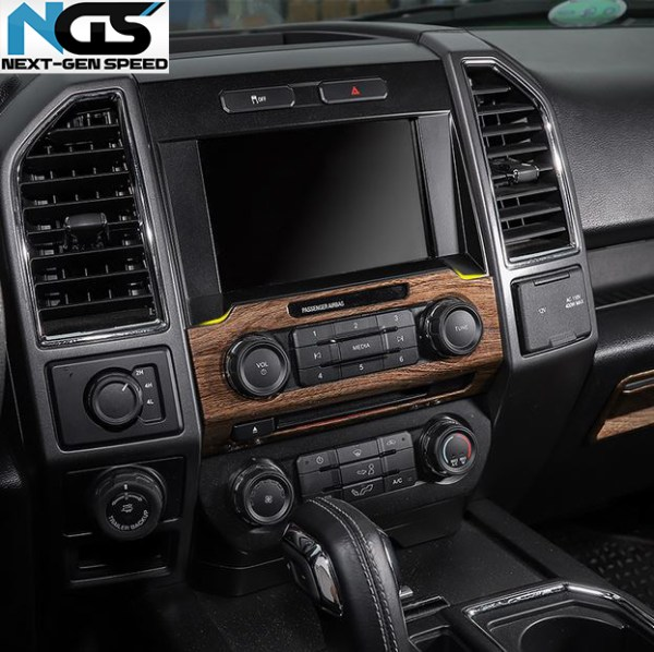 Radio Trim Frame Cover (5 Finishes) | 2016-2021 Ford F-150