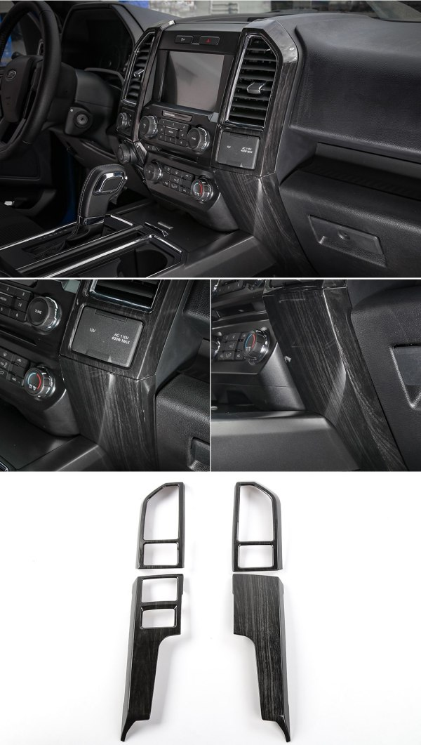 Center Dash Vent Trim Covers (5 Finishes) | 2016-2021 Ford F-150