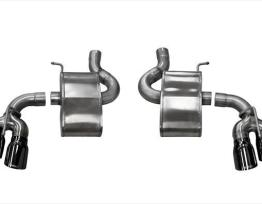 2.75 Inch Axle-Back Xtreme Dual Exhaust 4.0 Inch Black Tips 16-18 Camaro SS/17-18 Camaro ZL1 6.2L V8 Stainless Steel Corsa Performance