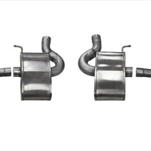 2.75 Inch Axle-Back Xtreme Dual Exhaust 4.5 Inch Polished Tips 16-19 Chevy Camaro SS 6.2L V8 Stainless Steel Corsa Performance