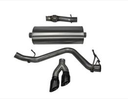 3.0 Inch Cat-Back Sport Single Side Exit Exhaust 4.0 Inch Black Tips 14-Present Silverado/Sierra 1500 Regular Cab/Standard Bed 5.3L V8 119 Inch WB Stainless Steel Corsa Performance