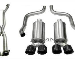 2.5 Inch Cat-Back Xtreme Exhaust Dual Rear Exit 4.0 Inch Black Tips 09-13 Chevy Corvette C6 6.2L V8 Stainless Steel Corsa Performance