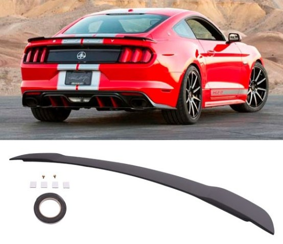 GT Style Painted Matte Black Trunk Spoiler | 15-19 Mustang