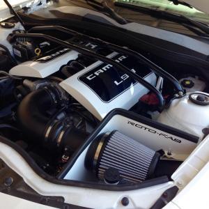 Camaro V8 Aluminum Engine Covers 13-15 Camaro Bare Roto-fab