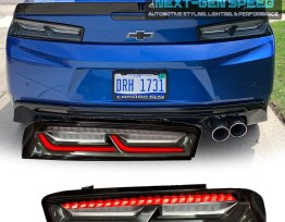 Smoked/Clear Sequential Tail Lights – Red Signal | 2016-18 Camaro