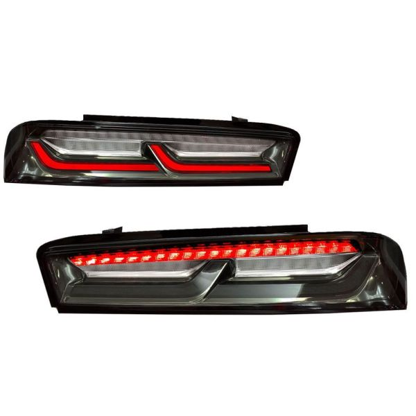 Smoked/Clear Sequential Tail Lights – Red Signal   2016-2018 Chevy Camaro