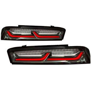 Smoked/Clear Sequential Tail Lights – Red Signal | 2016-2018 Chevy Camaro