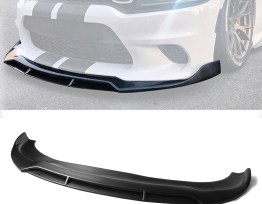 Matte Black SRT Splitter Lip v2  | 2015-19 Charger