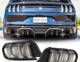 Clear Euro LED Sequential Tail Lights | 2015-2020 Ford Mustang