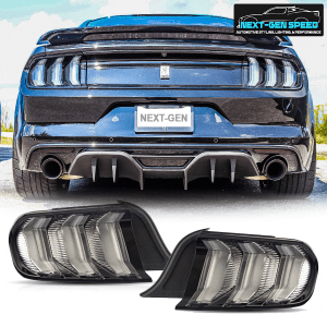 Clear Euro LED Sequential Tail Lights | 2015-2021 Ford Mustang