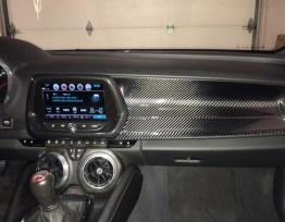 Next-Gen Carbon Fiber Passenger Dashboard Cover | 2016-2020 Chevy Camaro