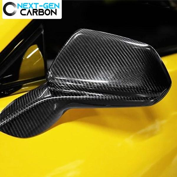 Real Carbon Fiber Carbon Fiber Mirror Covers | 2016-2020 Chevy Camaro