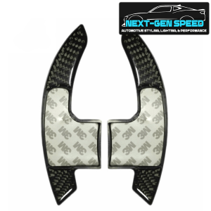 Real Carbon Fiber Paddle Shifter Covers | 2015-2021 Ford Mustang