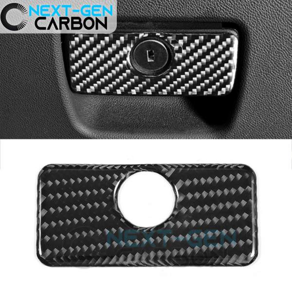 Real Carbon Fiber Glove Box Handle Cover | 2016-2020 Camaro