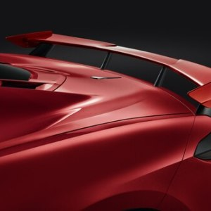 High Wing Spoiler (Torch Red GKZ) | 2020+ Chevy Corvette C8 (84183463)