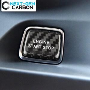 Carbon Fiber Push Start Button Cover (Red/Black) | 2016-2021 Chevy Camaro/2014-2019 Corvette C7