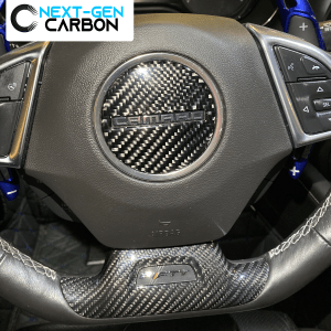 Real Carbon Fiber Steering Wheel Trim Cover Kit | 2016-2020 Camaro