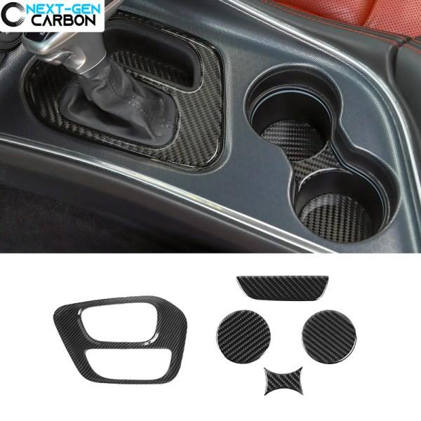 Carbon Fiber Center Console Cover Kit | 2015-2020 Dodge Challenger