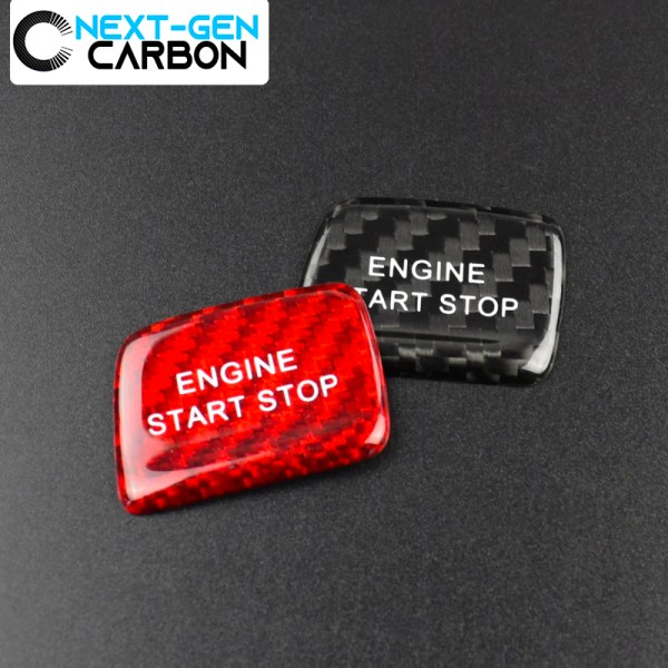 Carbon Fiber Push Start Button Cover (Black/Red) | 2016-2020 Chevy Camaro/2014-2016 Corvette C7