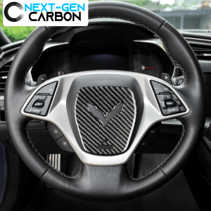 Real Carbon Fiber Center Steering Wheel Cover | 2014-2019 Chevy Corvette C7