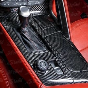 Real Hard Carbon Fiber Center Console Cover Kit | 2014-2019 Chevy Corvette C7