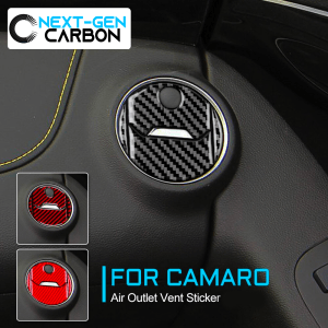 Carbon Fiber Air Vent Overlays | 2010-2015 Chevy Camaro