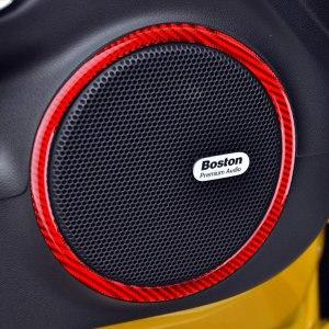Carbon Fiber Door Speaker Trim Rings    2010-2015 Chevy Camaro