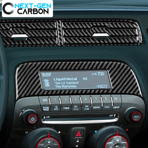 Carbon Fiber Radio/Climate Control Trim + Center Vent Overlay | 2010-2012 Chevy Camaro