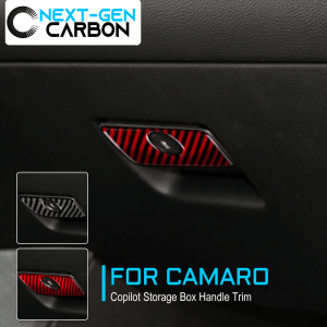 Carbon Fiber Glove Box Handle Cover | 2010-2015 Chevy Camaro