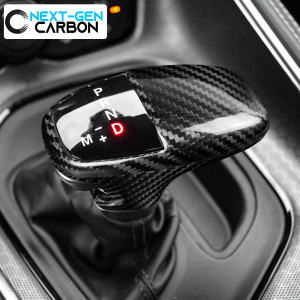 Carbon Fiber Shifter Knob Handle Cover (Black/Red) | 2015-2021 Dodge Charger/Challenger/Durango