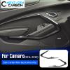 Carbon Fiber Door Trim Surround Cover | 2016-2021 Chevy Camaro
