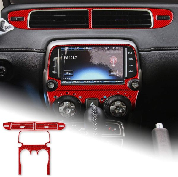 Carbon Fiber Radio/Climate Control Trim + Center Vent Overlay  | 2013-2015 Chevy Camaro