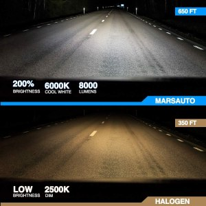 9005 LED 8000LM 6000K Car Headlight Bulbs