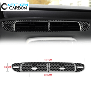 Carbon Fiber Center Vent Overlay | 2013-2015 Chevy Camaro