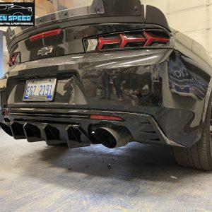 Gloss/Matte 3PC Quad Tip Diffuser   2016-2021+ Chevy Camaro