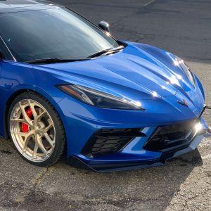 Carbon Flash Metallic 5VM Style Front Splitter Lip  | 2020+ C8 Corvette (2 Piece) – EOS