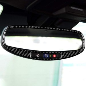 Carbon Fiber Rear-View Mirror Trim Overlay | 2010-2015 Chevy Camaro