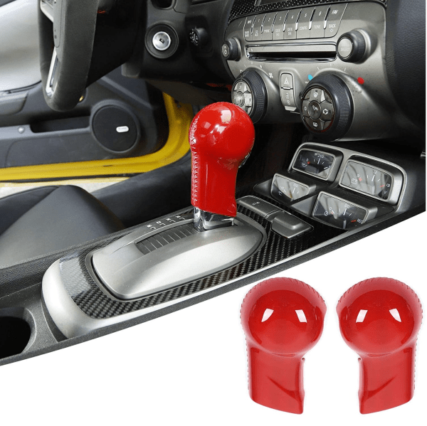 Red Shifter Knob Handle Cover | 2010-2015 Chevy Camaro