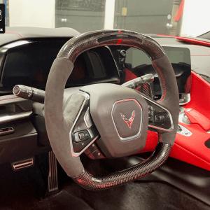 LED Carbon Fiber Steering Wheel | 2020-2021 Corvette C8