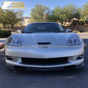 Primer Black Front Splitter Lip | 2005-2013 Corvette C6 Grand Sport/Z06