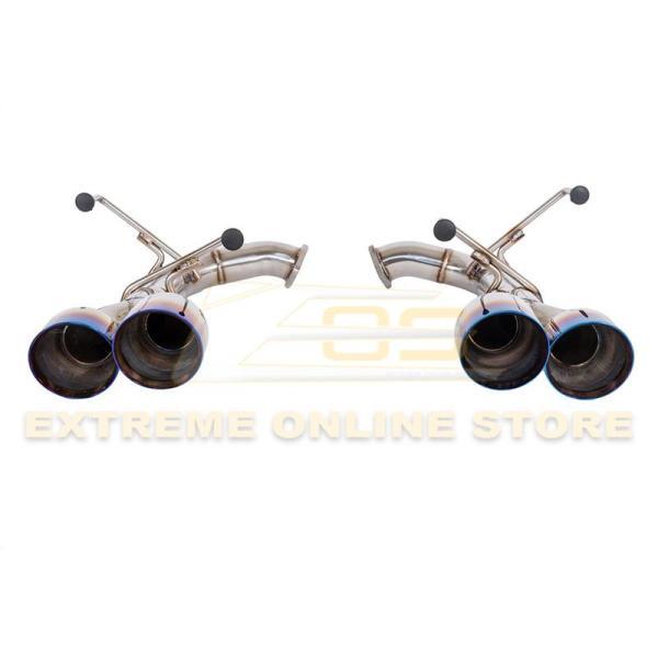 Muffler Delete Axle Back Quad Burnt Tips Exhaust | 2015-Up Subaru WRX / STI