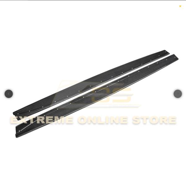 Extended Carbon Fiber Side Skirts Rocker Panels   15-Up BMW F82 M4