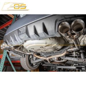 Muffler Delete Axle Back 4 Inch Quad Tips Exhaust | 2015-Up Subaru WRX / STI