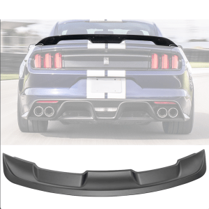 GT500 Spoiler Wing Unpainted Black ABS | 2015-2021 Mustang