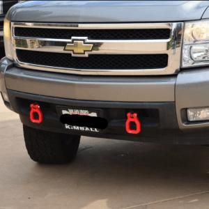 Red Tow Hooks | 2007-19 Chevy Silverado – ZL1Addons